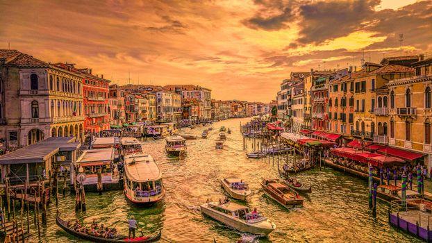 Фото бесплатно закат, Venice, зданий