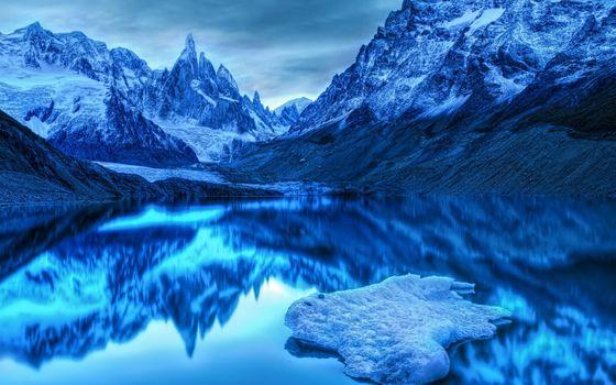 Фото бесплатно сумрак, зима, озеро
