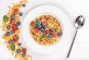 Photo free food, strawberry, blueberry