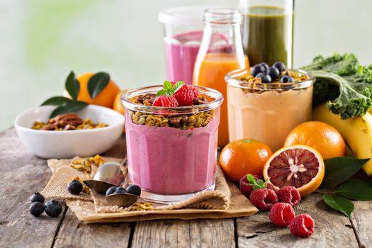 Фото бесплатно фрукты, сок, смузи