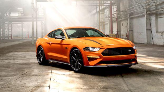 Заставки оранжевый, Ford Mustang, маслкары