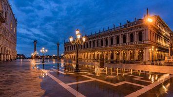 Заставки Пьяцетта Сан-Марко, Венеция, Италия