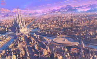 Photo free anime urban landscape, Arsenixc, fantastic world