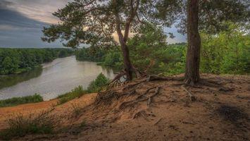 Фото бесплатно река, закат, Россия