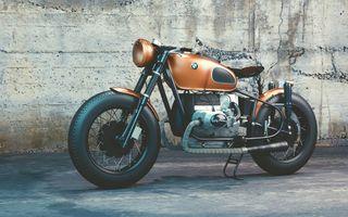 Фото бесплатно мотоцикл, оранжевый, BMW R80