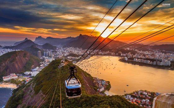 Photo free Rio de Janeiro, sunset, city view