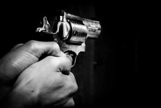 Фото бесплатно черно-белый, пистолет, монохромный