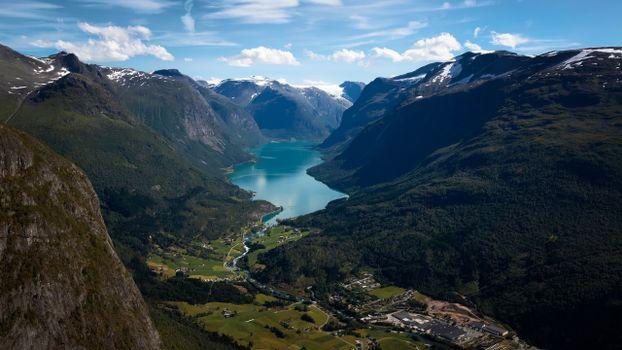 Фото бесплатно горы Норвегии, пейзажи, фьорд