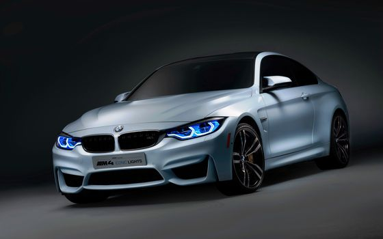 Photo free BMW M4, silver, Front View