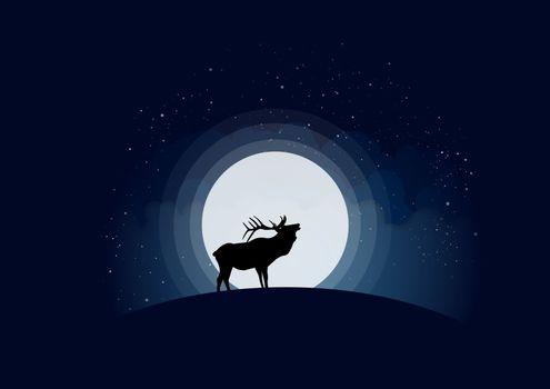 Бесплатные фото олень,луна,вектор,deer,moon,vector