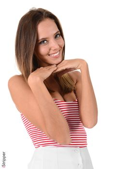 Photo free girls, grin, hands