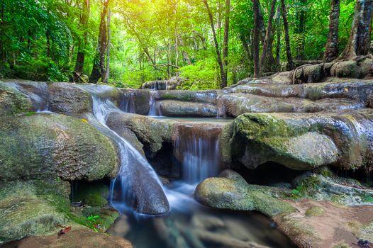 Photo free Thailand, Kanchanaburi, Vodopad Eravan