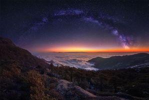 Бесплатные фото Млечный Путь,Небо,Ночь,Облака,Природа,Ландшафт,звёзды