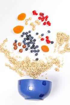 Photo free food, oatmeal, apricot