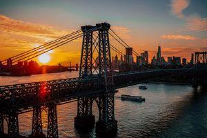 Бесплатные фото Нью-Йорк,США,мост,рассвет,new york,usa,bridge