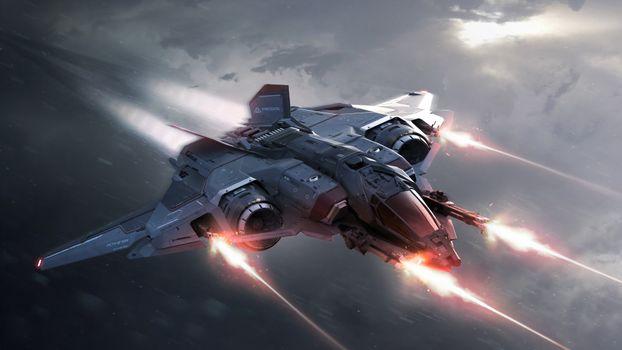 Фото бесплатно Star Citizen, космический корабль, оружие