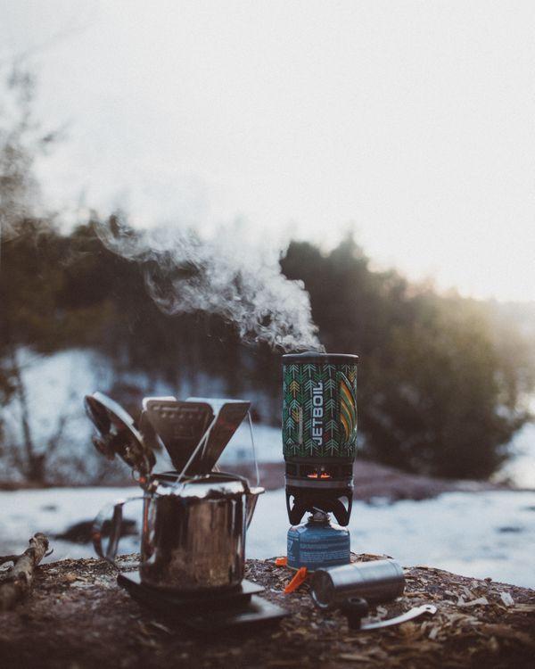 Фото бесплатно лес, кофе, зима, дерево, теплый, цветок, jetboil, залить, на улице, пар, еда