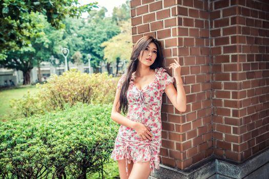 Фото бесплатно девушки, азиатка, платье