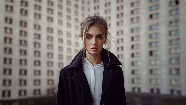 Фото бесплатно лицо, темные волосы, модель