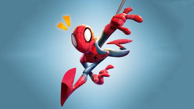 Фото бесплатно Человек-паук, арт, супергерои