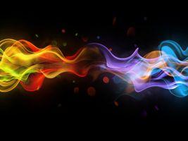 Разноцветный дым · бесплатное фото