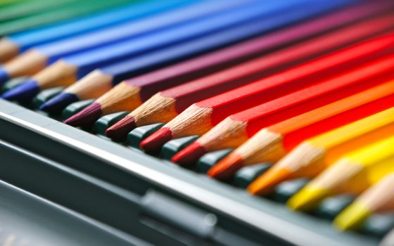 Photo free colorful, pencils, drawing