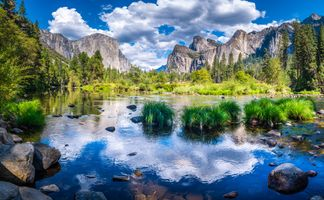 Фото бесплатно река, США, облака