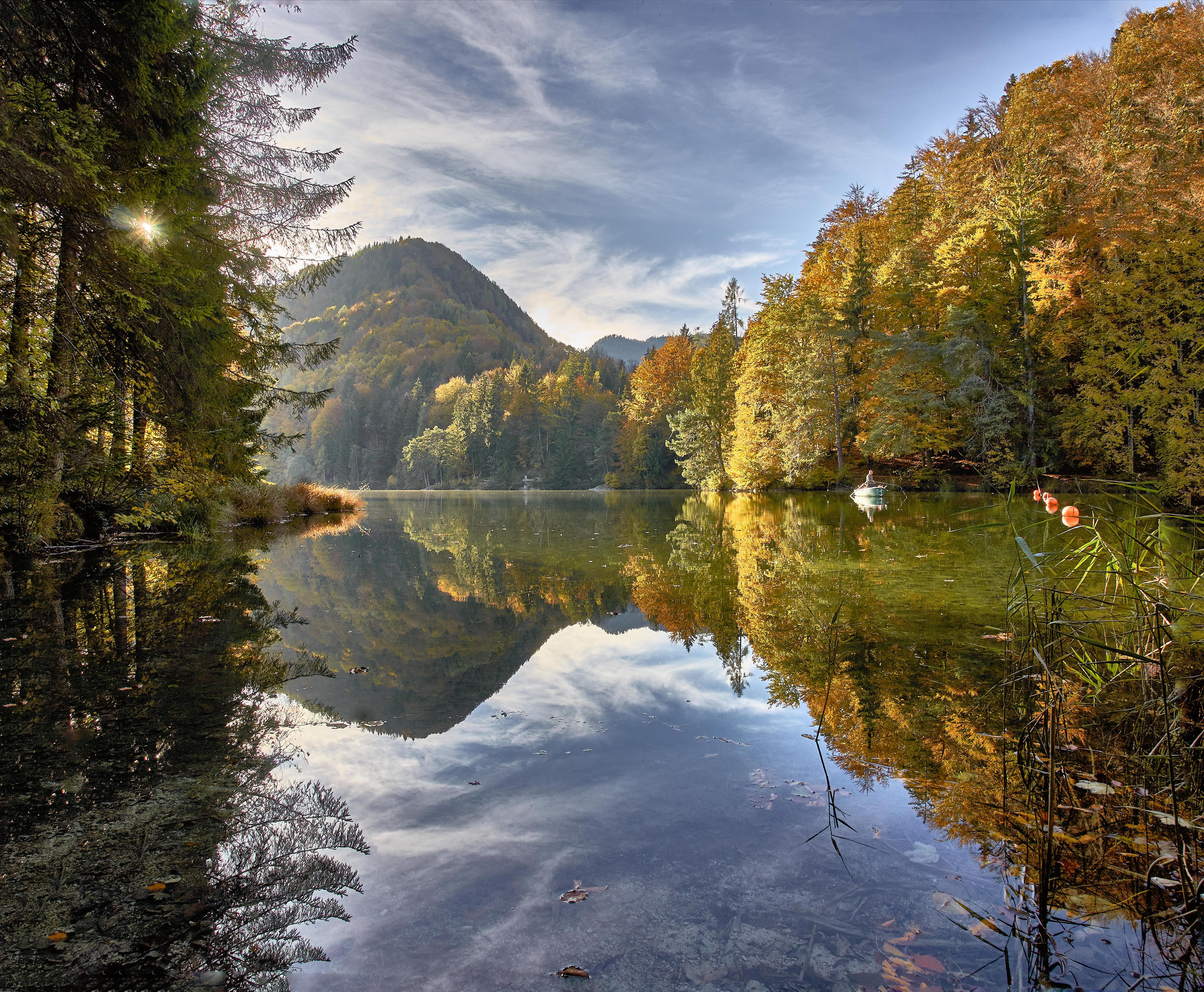 Обои Куфштайн, Австрия, Альпы, озеро