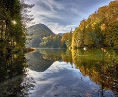 Бесплатные фото Куфштайн,Австрия,Альпы,озеро,осень,лес,деревья