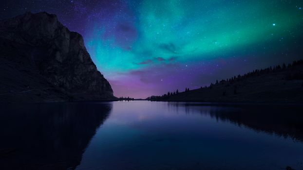 Photo free aurora, lake, nature