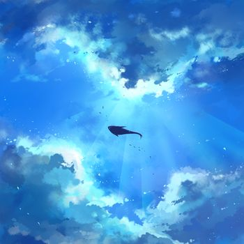 Photo free fish, clouds, artistic