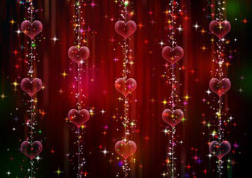 Текстура и сердечки · бесплатное фото