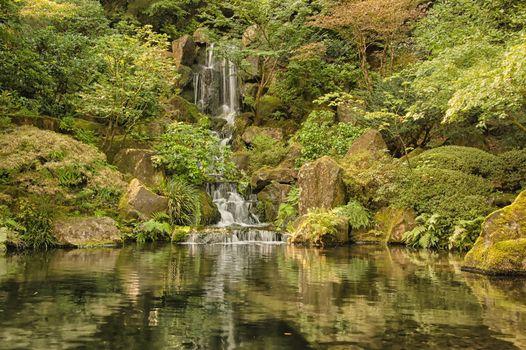 Photo free Portland Japanese Garden, Oregon, park
