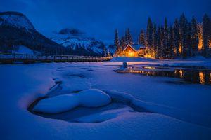 Фото бесплатно ночь, зима, Emerald