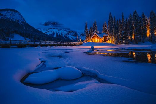 Photo free night, winter, Emerald