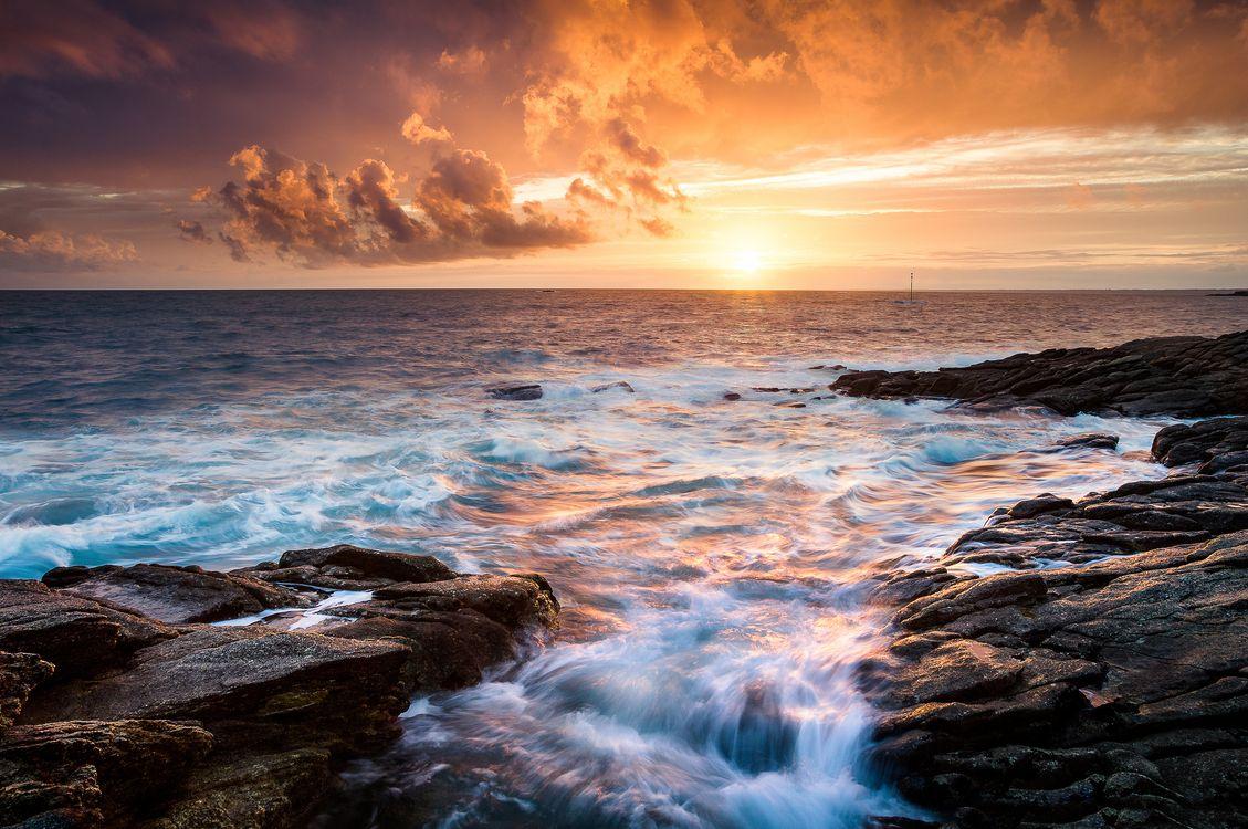 The Morbihan at sunset · free photo