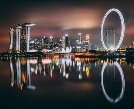 Photo free singapore, skyscrapers, building
