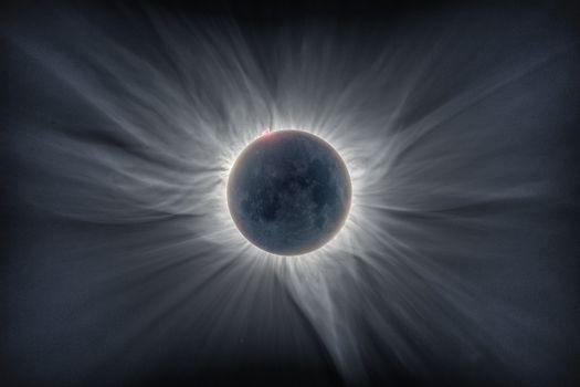 Заставки солнечная корона, галактики, звезды