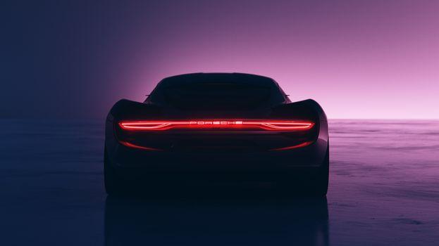 Фото бесплатно Porsche, автомобили, задняя часть