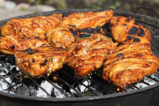 Фото бесплатно мангал, курица, мясо