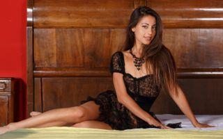 Бесплатные фото lorena b,lorena garcia,черное белье,брюнетка,black lingerie,brunette