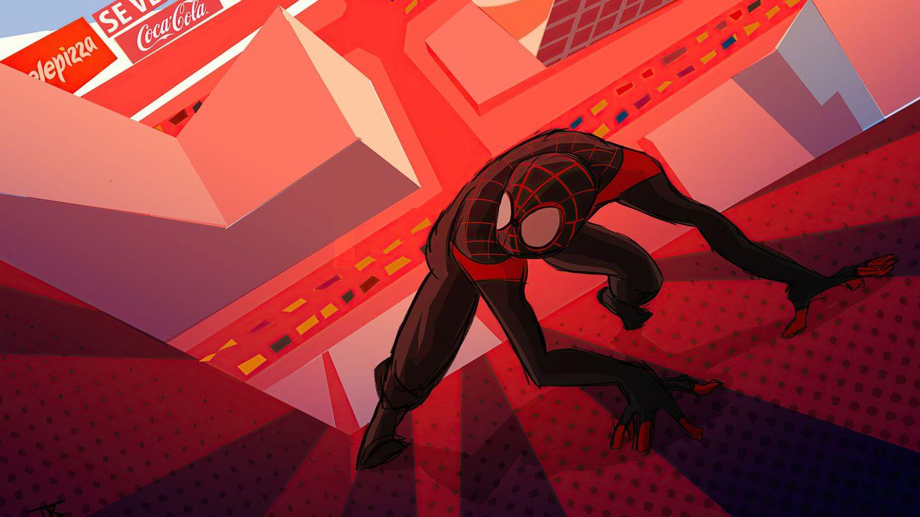 Фото бесплатно паук, супергерои, произведение искусства - на рабочий стол