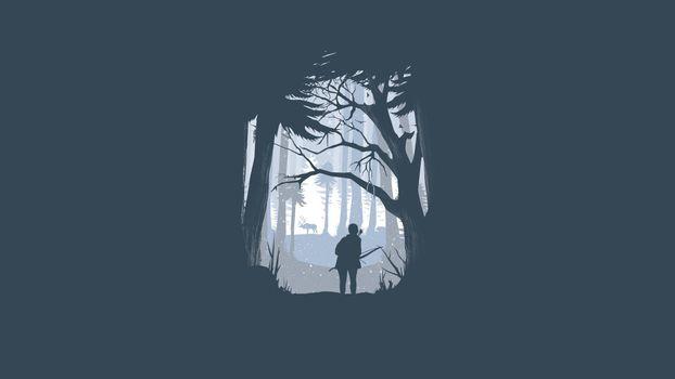Фото бесплатно последние из нас, минималистичный, лес