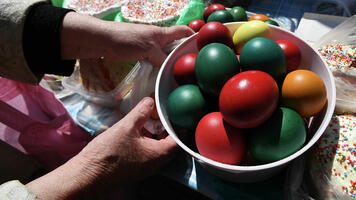 Фото бесплатно яйца, праздник, покрашенные яйца