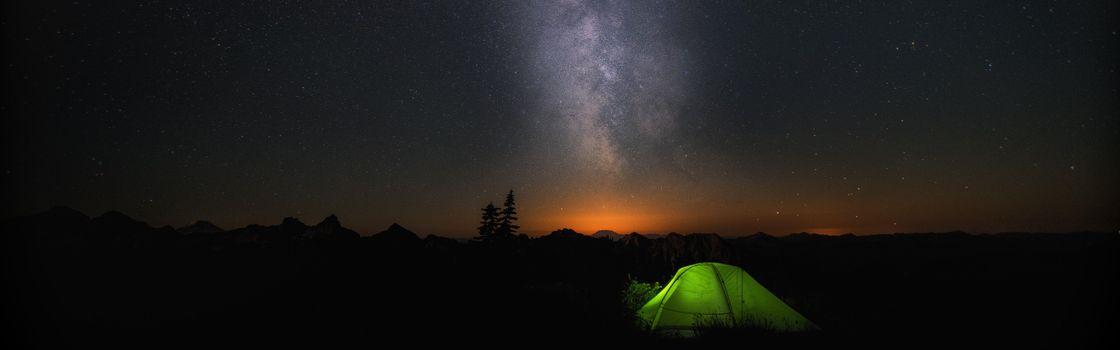 Заставки кемпинг, палатка, ночь