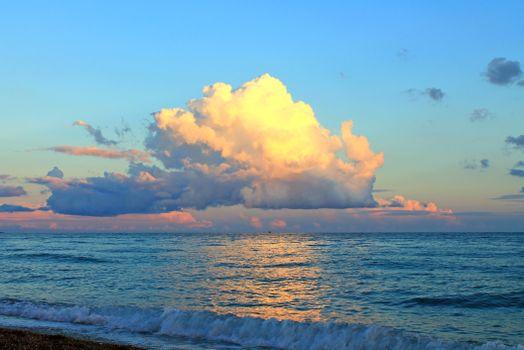 Фото бесплатно море, пляж, вечер