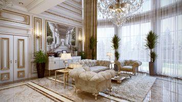 Бесплатные фото комната, диван, картина, люстра, цветы, столик, гостиная