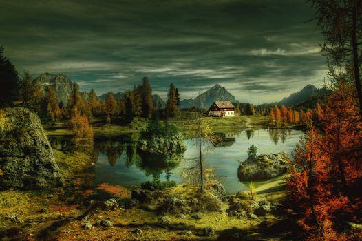 Фото бесплатно федеративное озеро, доломиты, альпийский