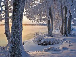 Фото бесплатно Озеро Сайма, закат, пейзаж