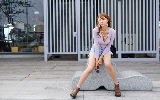Photo free woman, pose, blouse